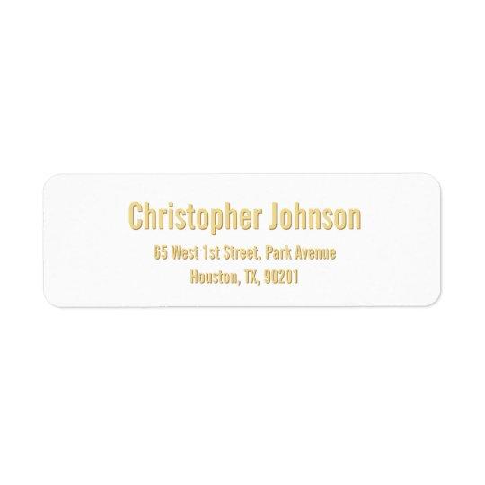 Create Custom Golden Modern Return Address Label