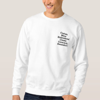 Create Custom Mens Embroidered Crewneck Sweatshirt
