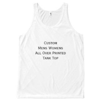 Create Custom Mens Womens All Over Print Tank Top