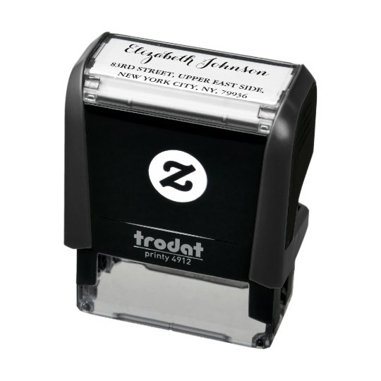 Create Custom Personalized Elegant Return Address Self-inking Stamp