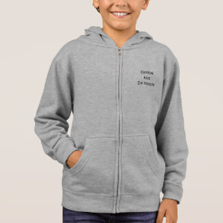 Create Custom Personalized Kids Unisex Zip Hoodie