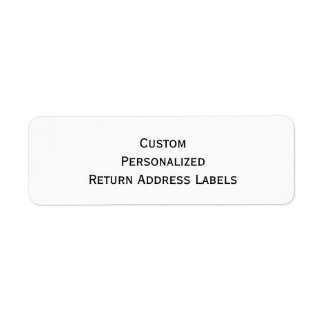 Create Custom Personalized Return Address Labels