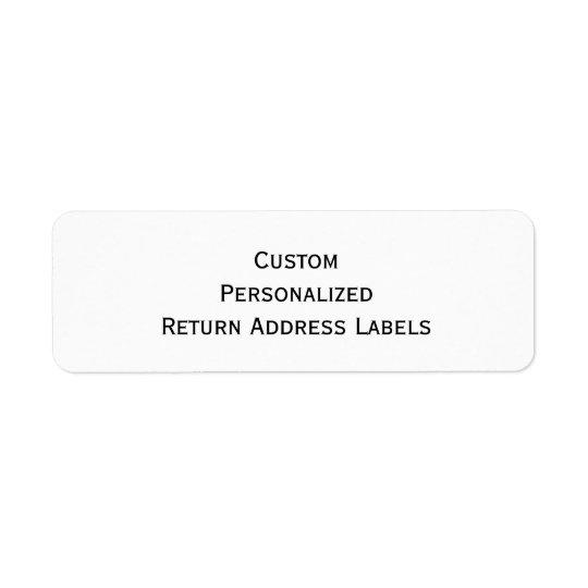 Create Custom Personalized Return Address Labels