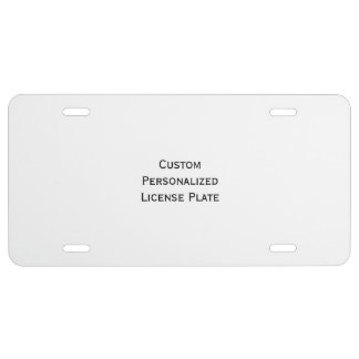 Create Custom Personalized Vehicle License Plate