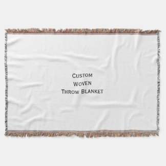 Create Custom Personalized Woven Throw Blanket