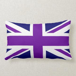 Create Custom Purple Union Jack Lumbar Pillow