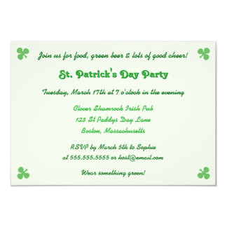 Create Custom St Patricks Day Party Invitation