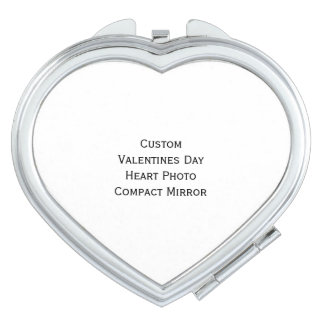 Create Custom Valentines Day Heart Photo Mirror Compact Mirror