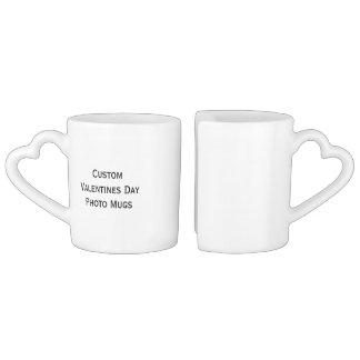Create Custom Valentines Day Photo Tea/Coffee Mugs Lovers Mug Set