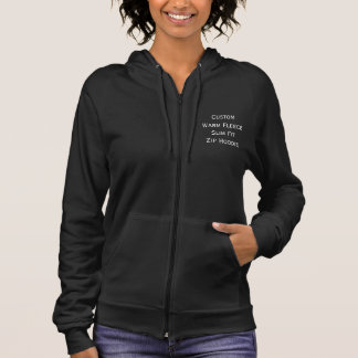 Create Custom Womens Fleece Slim Fit Zip Hoodie