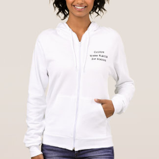 Create Custom Womens Warm Fleece Slim Zip Hoodie