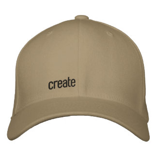 create embroidered hat