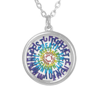 Create Enjoy Manifest - LOA Silver Plated Necklace