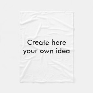 Create here your own idea - by Shirt to Design Fleece Blanket