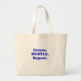 Create Hustle Repeat Jumbo Tote Bag