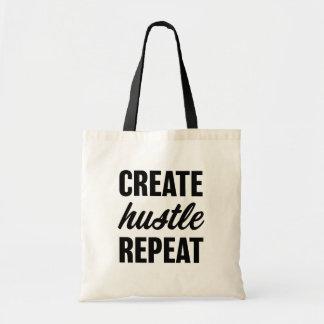 Create Hustle Repeat tote bag
