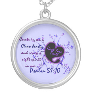 Create In Me A Clean Heart Silver Plated Necklace