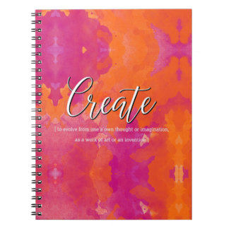 Create Inspirational Design Spiral Notebook