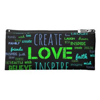 Create inspire word art pencil case