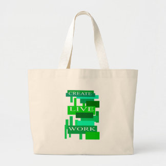 Create Live Work Jumbo Tote Bag