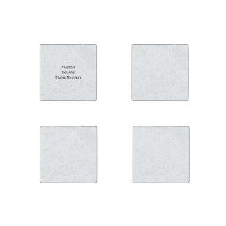 Create Make Custom Set of 4 Square Fridge Natural Stone Magnets