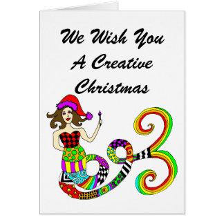 Create Mermaid Muse Creative Christmas Card