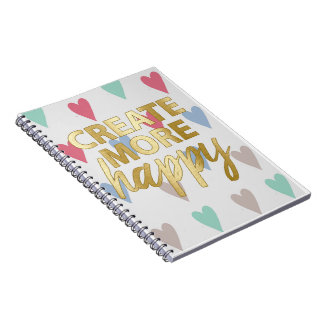 Create more happy spiral notebook