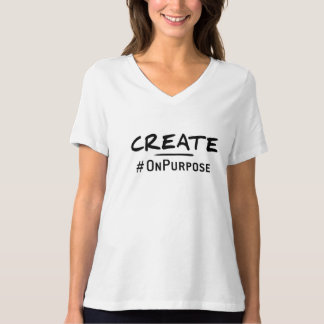 Create #OnPurpose Women's V-neck t-shirt