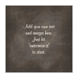 Create own chalkboard wall art menu sign proverb