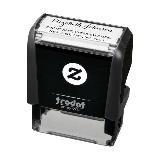 Create Personalized Elegant Name Return Address Self-inking Stamp