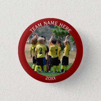 Create Sports Team Photo 1 Inch Round Button