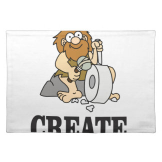 create stone man placemat