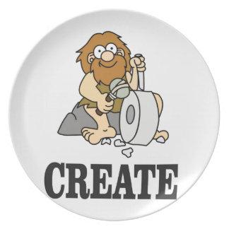 create stone man plate
