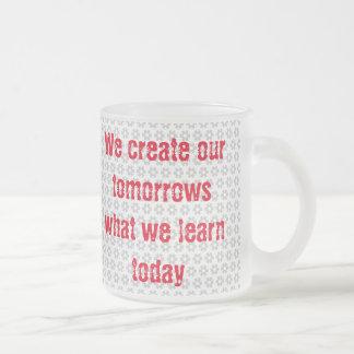 create tomorrows frosted glass coffee mug