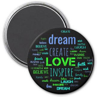 Create word art magnet
