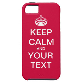 "Create Your Custom Text ""Keep Calm and Carry On""! iPhone 5 Cover"