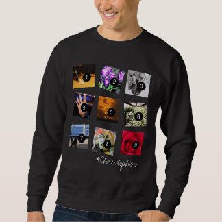 Create Your Instagram Selfies 9 images + NAME! Sweatshirt