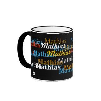 create your name pattern ringer mug