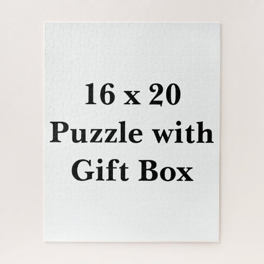 Create Your Own 16 x 20 Puzzle with Gift Box