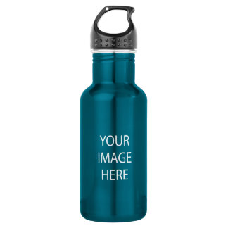 Create Your Own 18 oz Electric Blue Water Bottle