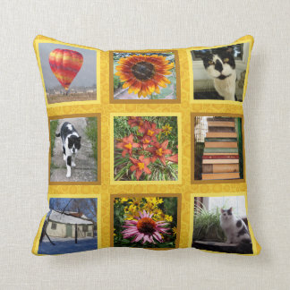 Create Your Own 18 Square Instagram Photo Honey Throw Pillow