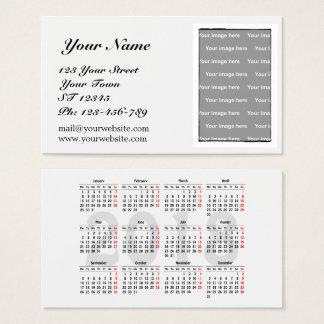 Create your own 2018 calendar Business Card