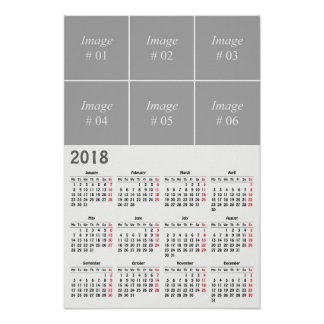 Create your own 2018 calendar poster