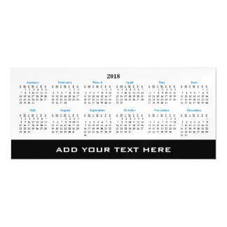 Create Your Own 2018 Custom Calendar Magnetic Card