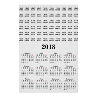 Create Your Own 2018 Custom Calendar Poster
