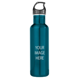 Create Your Own 24 oz Electric Blue Water Bottle