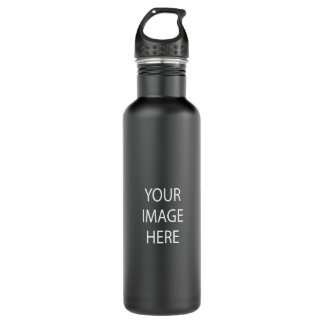 Create Your Own 24 oz Matte Black Water Bottle