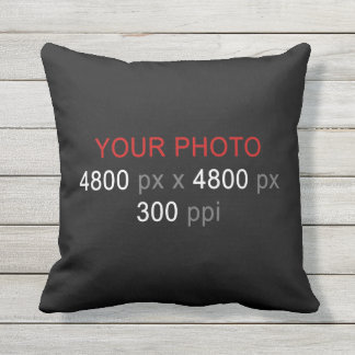 Create Your Own 2 Photos Custom 16 Inch Outdoor Pillow