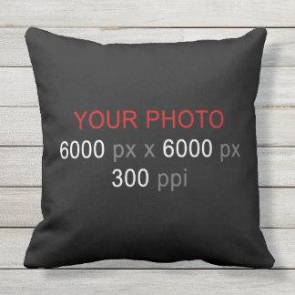 Create Your Own 2 Photos Custom Throw Pillow