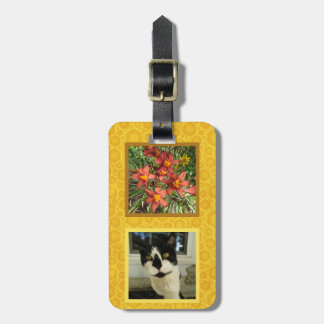 Create Your Own 2 Square Instagram Photo Honey Bag Tag